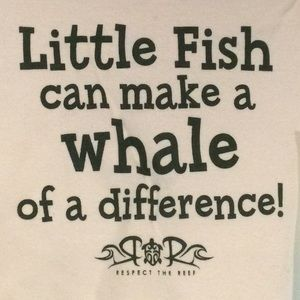 Little fish make a whale of a difference! NWT